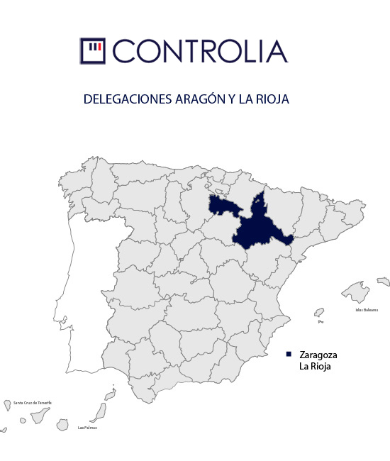 Mapa Aragón y La Rioja