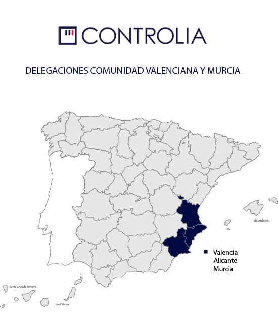 Mapa Comunidad Valenciana y Murcia